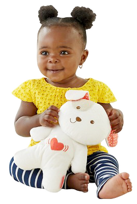 Children's Learning Center of Richmond Heights baby girl plays with toy